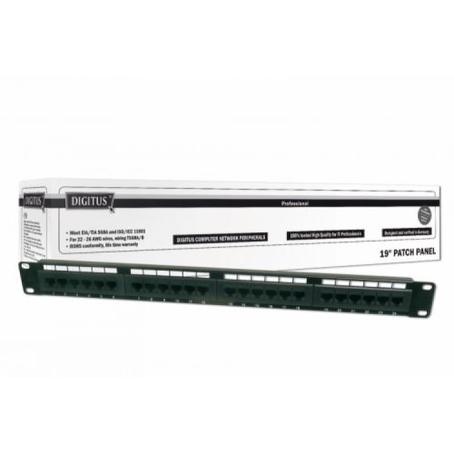 Patch panel 24port UTP Cat.5e 1U